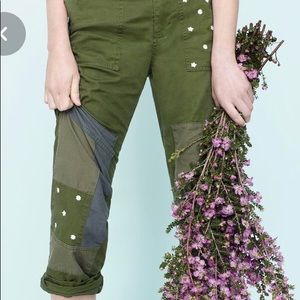J Crewe Embroidered Boyfriend Chinos With Patches